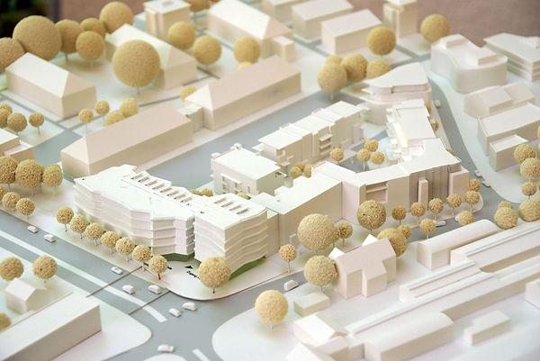 Architekturmodell Stadtquartier V8 Freiburg-Vauban