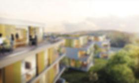 Visualisierung der Neubebauung Corrensstraße in Tübingen, 2. Preis im Wettbewerb
