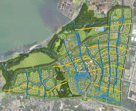 Masterplan Ecotown Suzhou in China