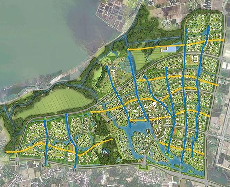 Masterplan Ecotown Suzhou in China