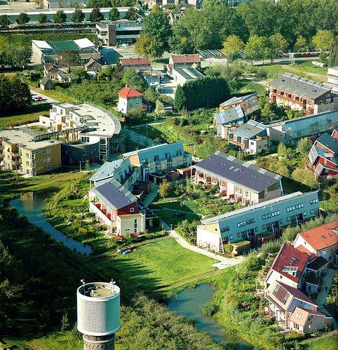 Luftbild ökologisches Wohnquartier EVA Lanxmeer Culemborg