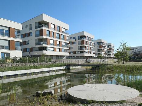 Bild der Stadtvillen im Quartier Natürlich Rastatt
