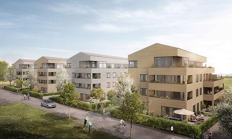 Visualisierung Wohngebäude Hornbühl-Ost in Freiburg Ebent
