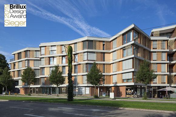 Ansicht Wohn- und Geschäftshaus V6/V7 Freiburg Vauban
