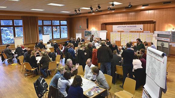 Bild von der Planungswerkstatt zum Rahmenplan Grüne Heyde in Norderstedt