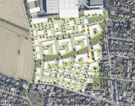 Städtebauliche Planung Quartier Strütle/Weiher in Tübingen Pfrondorf