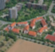 Luftbild Kulturdenkmal Ökosiedlung Schafbrühl
