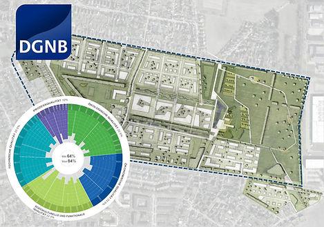 Stadtquartier Grüne Heyde in Norderstedt mit DGNB-Zertifizierung