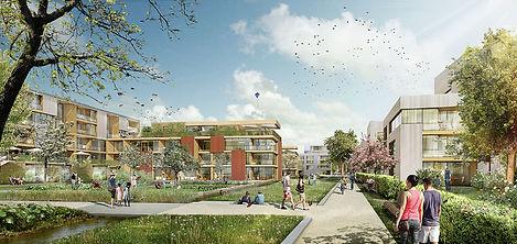 Visualisierung Siedlung Westend Berlin, 2. Preis im Wettbewerb