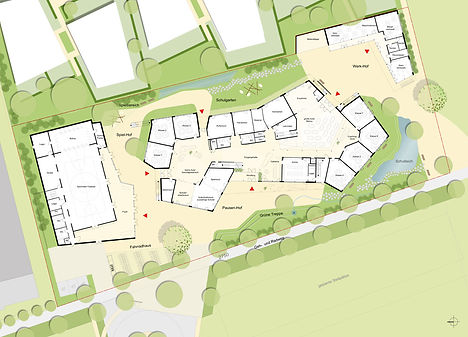 Plan des Campus Fellbach in der Siemensstraße in Fellbach