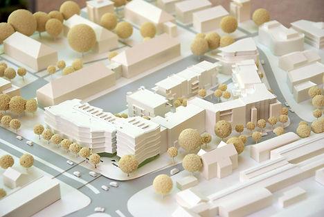 Modell des Stadtquartiers V8 in Freibung-Vauban