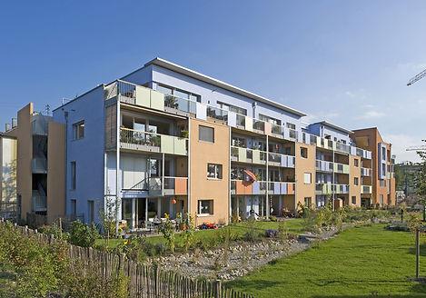 Ansicht des Mehrgenerationenhaus und Passivhaus Vielfalt in Karlsruhe, Baugemeinschaft