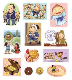 「日本むかしばなしのことば絵本」イラストナツメ社