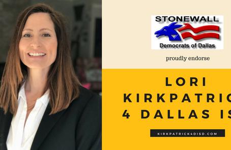 Endorsement by Stonewall Democrats of Dallas