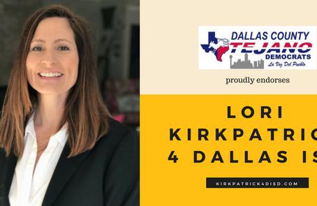 Dallas County Tejano Democrats Endorsement