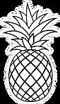 criss-crossed-pineapple-outline-sticker-