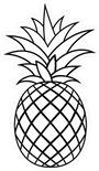criss-crossed-pineapple-outline-sticker-