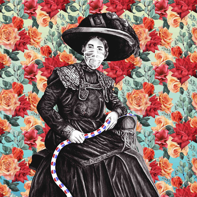 """""""Victorian Outlaw"""" digital drawing by Ana Gadish-Linares"""