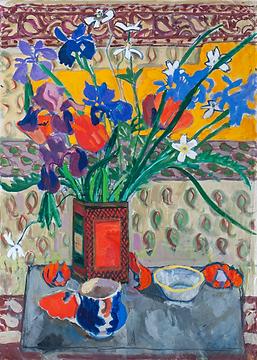 5.21 Ruth Grotenrath 2010.04.732_Large Bouquet in Orange Vase.tif