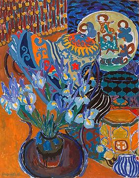 Ruth Grotenrath Still Life with Irises.j