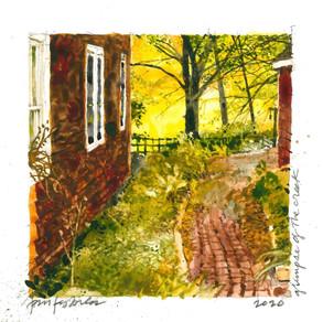 "Tom Kubala, ""Glimpse Of The Creek,"" Watercolor"