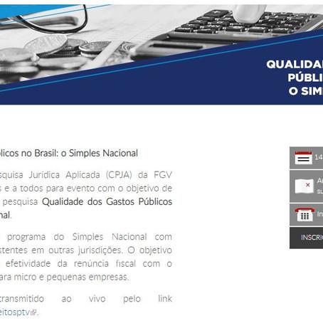 Evento | Qualidade dos Gastos Públicos no Brasil: o Simples Nacional