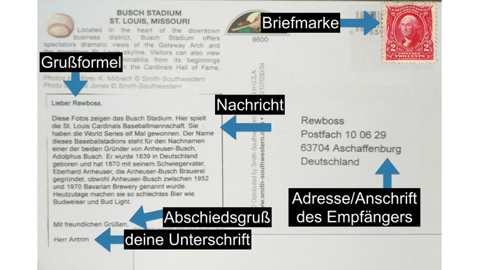 How To Write A Postcard | Learn German With Herr Antrim
