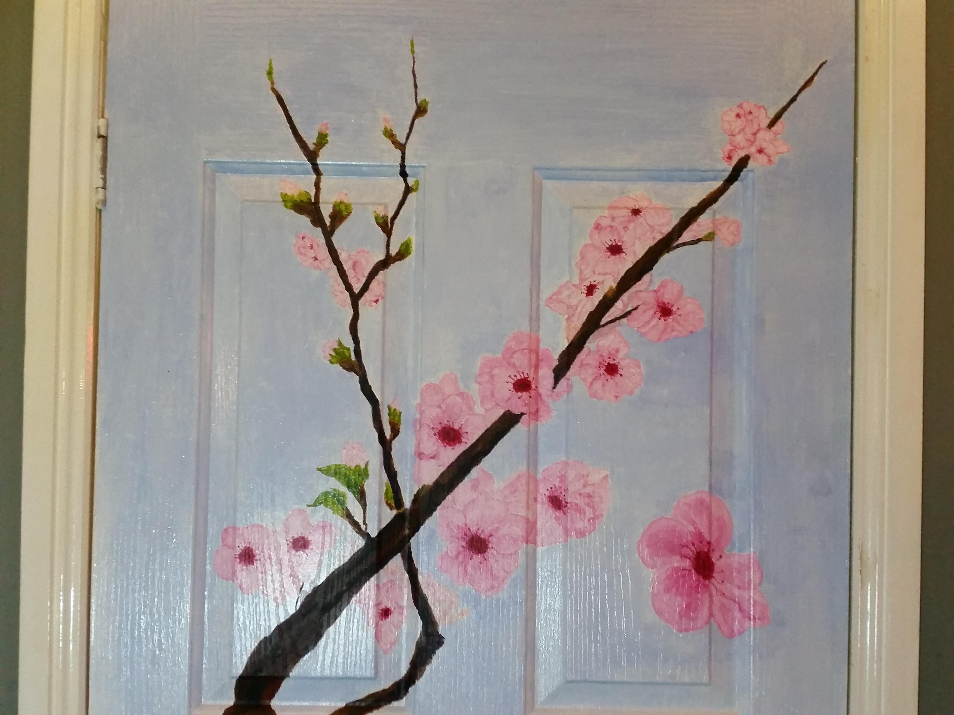 Cherry Blossom Sanda painting - 22 June 2017 20170623_025548