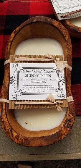 Olive Wood Candle