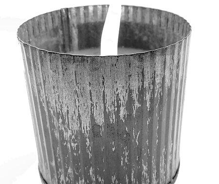 11 Oz Silver Tin Candle
