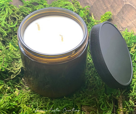 16 Oz Amber Glass Candle