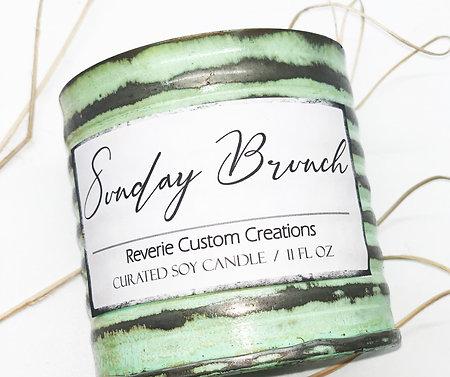 11 Oz Vintage Green Tin Candle