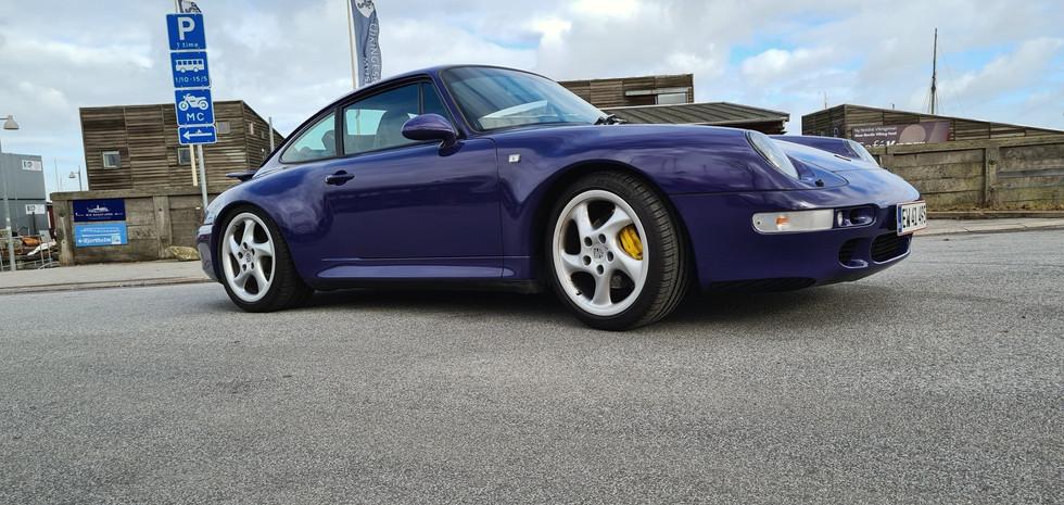 Porsche 993 folie indpakning Inozetek Super gloss Violet