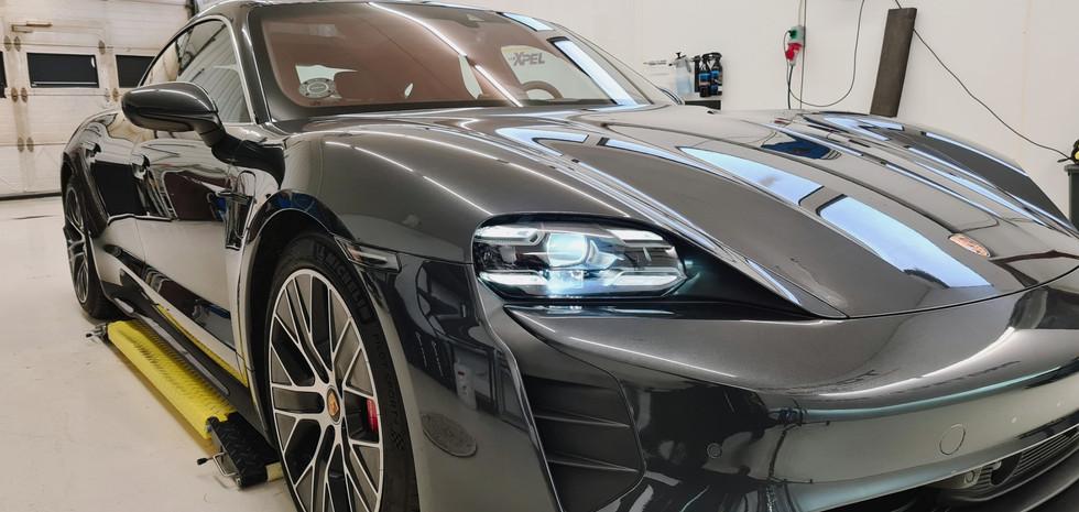 Porsche Taycan lakbeskyttelse folie, verden bedste lakbeskyttelse