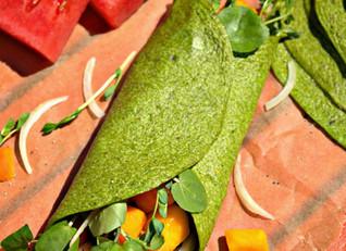 Sneak-peak Spinach Wraps