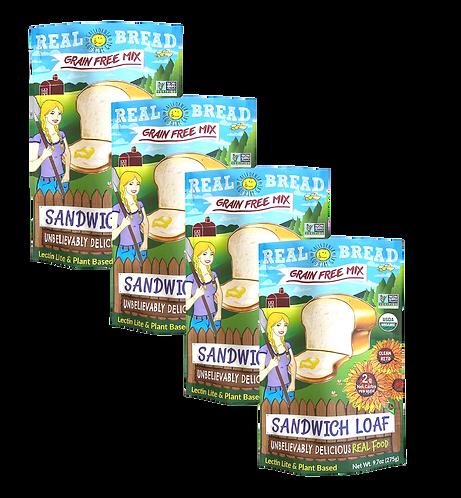 Organic Mix 4pk Sandwich Loaf