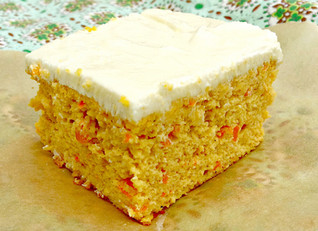 Indian Summer (Sweet Tater 'n Carrot) Blender Snack Cake