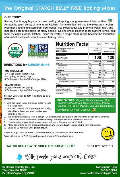 Organic Burger Bun Mix Back Pkg 9-22-20.