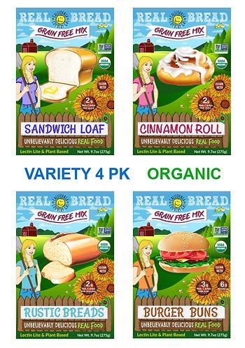 4pk Variety Mixes Certified Organic