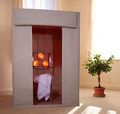 Near Infrared Sauna UK Complete Sauna Housing Unit with 3 Lamp Heating Unit