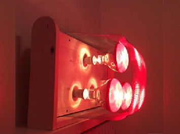 Near Infrared Sauna UK 3 Lamp Heating Unit with Stand