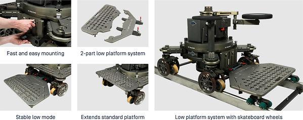 Both Dollies The GF Low Platform System.
