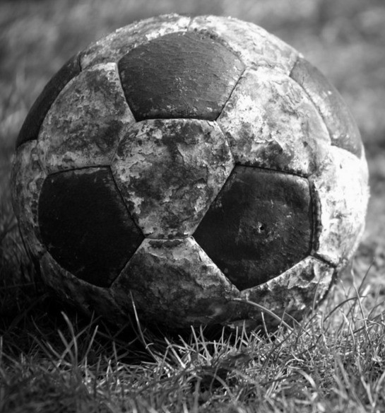 A Football on grass