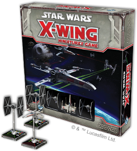 X-Wing Miniature Tie Fighters and X-Wing