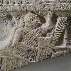 Eannatum, King of Lagash, riding a war chariot