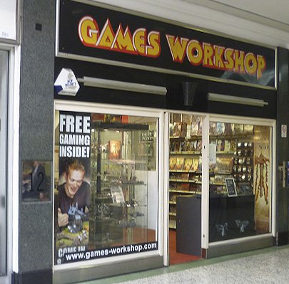 My old Games Workshop storefront, responsible for why I'm not a successful brain surgeon.