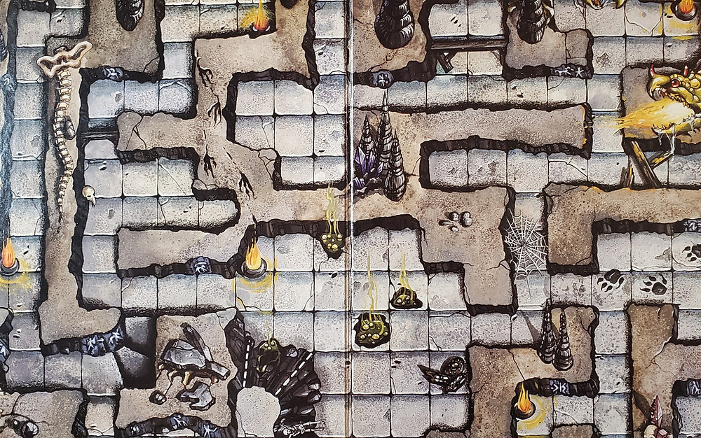 The Dungeon board from the Dragon Strike game by TSR