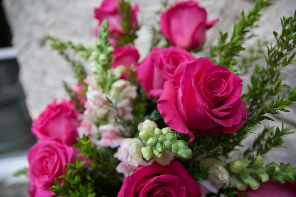 Large Pink Rose Arrangement