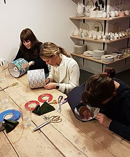 Hannah Redden Lampshade workshop, Kiln w