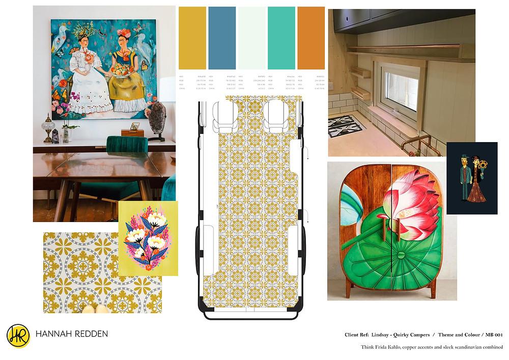 Hannah Redden - Initial Concept board for Frida